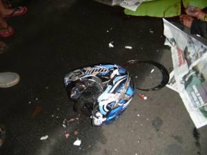 Kecelakaan helm