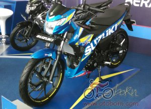 new satria f150-macho bright blue-otoborn.com