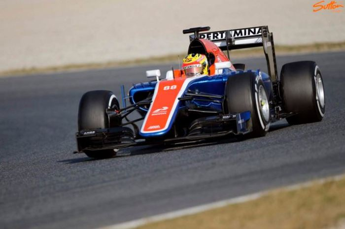 rio haryanto manor test mrt05 barcelona 2016