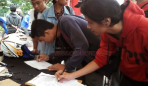 maung registrasi test ride new cbr150r karawang