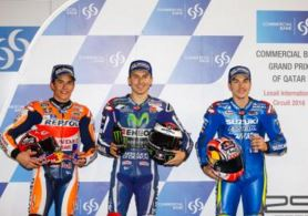 pole Jorge Lorenzo Marc Marquez Maverick Vinales seri 1 Qatar MotoGP 2016