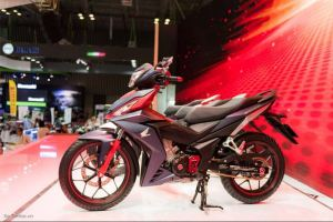 black red side honda winner supra x150r