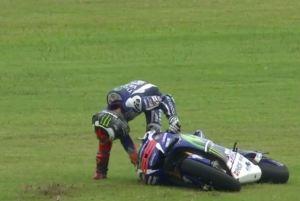 jorge lorenzo crash argentina motogp 2016