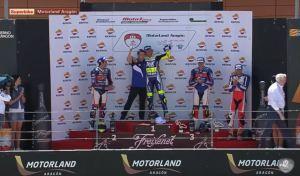 Podium Aragon SBK Race2 FIM CEV Repsol 2016