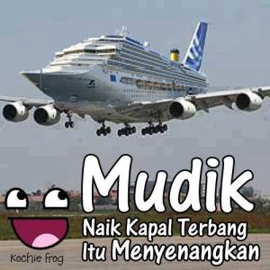 mudik kapal terbang