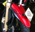 TVS Apache 200RTR License Bracket Kanan